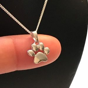 Jewelry - Sterling Silver Paw Print Necklace